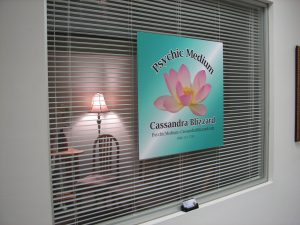 Psychic Medium Cassandra Blizzard Office